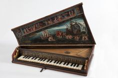 "1600 Italian Octave spinet at the Victoria and Albert Museum, London - From the curators' comments: ""Octave spinets were portable keyboard instruments, widely used in private homes in Italy throughout the seventeenth and eighteenth centuries to accompany singing."""