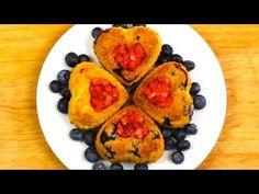 Heart quinoa cupcakes recipe - gluten free - San Valentine day