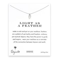 light as a feather, feather necklace, sterling silver #dogeared #sharethehappy