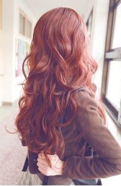 I want orange-brown hair ♥
