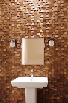 Textured Wood Wall Tile