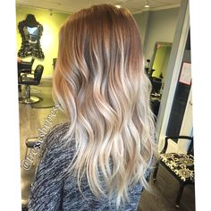 Soft platinum blonde balayage