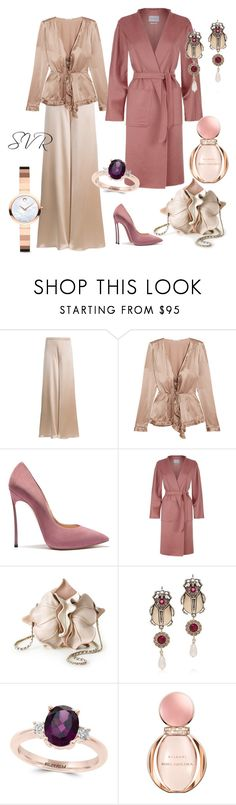 """""""SVR &RVS"""" by svrrvs ❤ liked on Polyvore featuring Voz, Tomas Maier, MaxMara, Alexander McQueen, Effy Jewelry, Bulgari and Movado"""