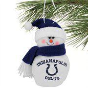 Indianapolis Colts 6'' Plush Snowman Ornament
