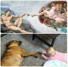 They'll be works of art, living in perfect harmony. | 21 Pictures That Prove Every Child Should Grow Up With A Dog