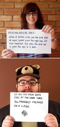 funny fact cry lett eye right eye both eyes stepped on lego
