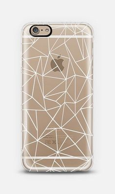 Abstraction Outline White Transparent iPhone 6 case