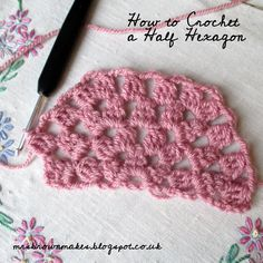 mrsbrownmakes...: How to Crochet a Half Hexagon