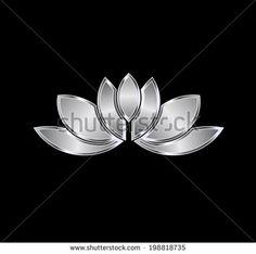 Platinum Lotus plant image. Concept of luxury spa, good fortune, purity