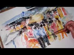 Watercolour painting tutorial using a photograph of Sutton Park - YouTube