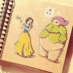 Teenage artist cleverly re-imagines Baymax as different Disney characters