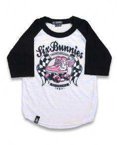 ROLLERSKATE, Six Bunnies Kids, Kid tees at Switchblade Clothing