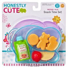 Honestly Cute - Snack Time Set for sale online Baby Dolls For Kids, Little Girl Toys, Baby Girl Toys, Toys For Girls, Kids Toys, Baby Alive Doll Clothes, Baby Alive Dolls, Baby Snacks, Cute Snacks