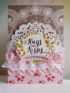 Hugs and kisses - 2014-01-30 - koolkittymusings.typepad.com using @Wplus9 Design Studio Design Studio Valentine Wishes stamps and dies