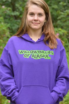 Get your Willowbillies Of Alaska (words only) we have them in Purple, pink, and gray!! Order now at Shop.willowbilliesofalaska.com Gildan® Heavy Blend 50% cotton/50%Polyester Unisex sizes, Preshrunk Designed and printed in Alaska Mens sizing is true to actual size