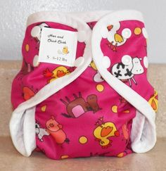 Small PUL Diaper Cover with Leg Gussets- 6 to 12 pounds- Moochsia