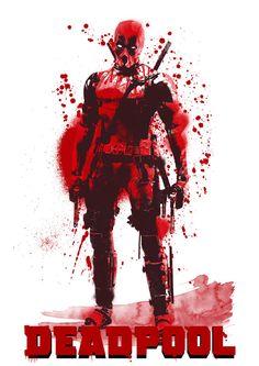 #Deadpool #Fan #Art. (Deadpool Digital water colour poster) By: Extremepanda0884. ÅWESOMENESS!!!™ ÅÅÅ+
