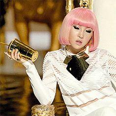 Minzy 2NE1 Pink Hair Falling in Love MV GIFs