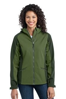 Port Authority Ladies Gradient Hooded Soft Shell Jacket
