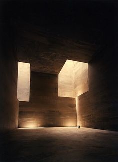In 1993, the Basque sculptor Eduardo Chillida, received a commission of the Canary Islands for a monument / sculpture in Tindaya Mountain, on Fuerteventura. Chillidas idea was to create a large empty void inside, with dimensions 50 x 50 x 50 meters, with an entrance tunnel of 200 meters and two skylights.