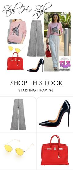 """""""Steal Her Style ( Selena Gomez )"""" by annbs ❤ liked on Polyvore featuring Zimmermann, Christian Louboutin, Hermès, StreetStyle, selena, Stealherstyle and CelebrityStyle"""