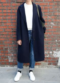 20 Looks with Fashion Coats Glamsugar.com Great Boxy Menswear Look