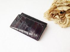 Dark Eel Skin Leather Wallet with Keys Holder ~ $32.80US + Shipping ~ CLAIM: Comment SOLD or MINE on post + EMAIL ME at aandsvintage(at)gmail.com {Invoiced: PayPal} Combine shipping available! Question + More Pics – CONTACT ME! #eelskin #eelskinwallet #eelleather #aandsvintage #vintage #retro #vintagedecor #homedecor  #vintageshop #vintageseller #vintagestore #forsaleonpintrest #pintrestshop #sellonpintrest #pintreststore #pintrestseller #pintrestvintage #forsale