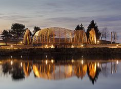 Prince Arthur's Landing at Marina Park in Thunder Bay, Ontario. #Design by Brook McIlroy. #Lighting by We-ef, ERCO, the Light Factory, Tehomet #architecture