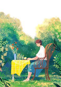Art And Illustration, Korean Illustration, Illustration Techniques, Creative Illustration, Watercolor Illustration, Poster S, Pretty Art, Aesthetic Art, Female Art