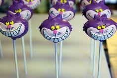 Alice in Wonderland theme: cheshire cake pops