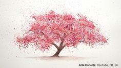 Cómo pintar un cerezo con acuarela - Cómo pintar un árbol