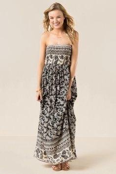 Clarita Printed Strapless Maxi Dress $44.00