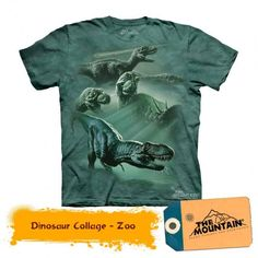 The Mountain T-Rex And Triceratops Dinosaur Collage Shirt For Kids, Boys, Girls Kids Outfits, Casual Outfits, Dinosaur Shirt, Collage, T Rex, Printed Tees, Branded T Shirts, Classic T Shirts, Tee Shirts