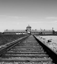 The main entrance to Auschwitz-Birkenau. The railway line which used to transport Jewish people by German Nazis from all over Europe to Auschwitz camp during World War II. - See more at: http://www.schahryar.com/photoblog/56