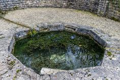 (790, SP 053 121, OL 45) Roman Villa, Chedworth, Gloucestershire . Spring used in Roman times and today