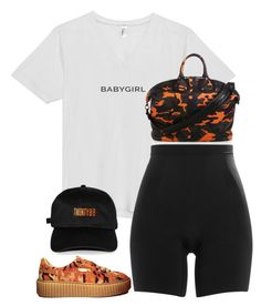 """Untitled #5453"" by stylistbyair ❤ liked on Polyvore featuring Puma, Givenchy and SPANX"