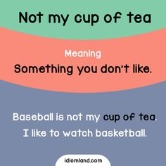 Non è nelle mie corde - What's your cup of tea? English Vinglish, Better English, English Tips, English Idioms, English Phrases, Learn English Words, English Study, English Grammar, Grammar And Vocabulary