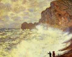 Stormy Weather at Etretat - Claude Monet.