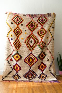 BROWN EYED GIRL vintage berber rug by coco carpets #azilal #boucherite #morrocan