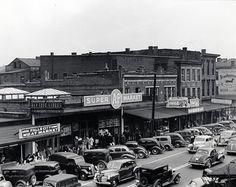 1930s Louisville Kentucky A Grocery Store Street Scene Photo