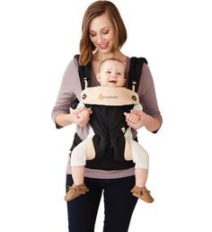 Ergobaby Four Position 360 Baby Carrier - Black/Camel Ergonomic Baby Carrier, Best Baby Carrier, Baby Bjorn, Black Camel, Good Parenting, Baby Registry, Baby Wearing, Positivity, How To Wear