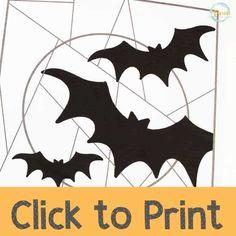 Line Art Paper Bat Craft for Kids - Views From a Step Stool Craft Activities For Kids, Crafts For Kids, Classroom Activities, Bat Template, September Art, Halloween Bats, Family Halloween, Halloween Costumes, Paper Bat