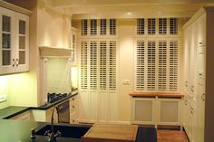 #Solid panels #shutters by #PlantationShutters London UK