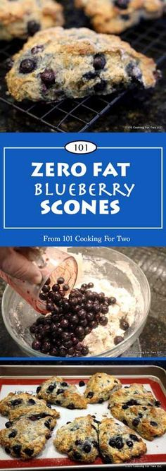 ZERO FAT BLUEBERRY SCONES | Something special for dieters. Coming in ...