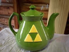 Handmade Legend of Zelda Triforce Teapot by thepunknpatch on Etsy
