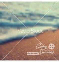 Summer beach vintage blurred background vector  by cienpies on VectorStock®