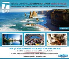 Win a Trip to the 2015 Australian Open Sweepstakes ::Tennis Channel - Enter Daily