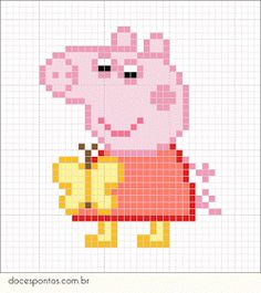 Cross Stitch Patterns Peppa Pig - As crianças adoram!