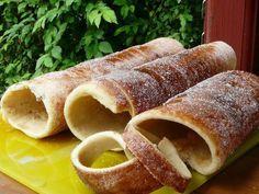 Cake Recipes, Snack Recipes, Dessert Recipes, Snacks, Churros, Kurtos Kalacs, Croissant Bread, Chimney Cake, Hungarian Recipes
