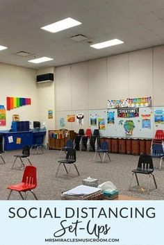 Music classroom set-ups for social distancing: Different classroom set-ups and tricks to keep students safe during music class